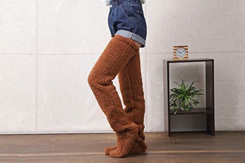 ロングレッグカバー 足が出せる 暖か素材 テレワークの足元対策 寝る時の足元冷え対策 Lサイズ