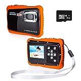 PROACC Cámara Impermeable para niños, Digital Mini Cámara con Zoom Digital de 8X / 12MP / 2' TFT LCD/8 GB Micro SD, cámara Infantil Impermeable 3m (Rojo)