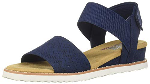 Skechers Damen Desert Kiss-Stretch Quarter Strap Flache Sandale, navy, 40 EU