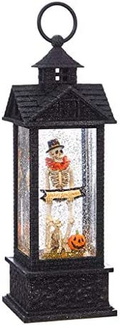 RAZ Imports 08640 12 Battery Operated Skeleton with Dog Water Glitter Filled Lantern with Timer product image