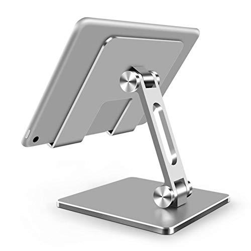Yzbtj Foldable Tablet Desk Stand, Lazy Foldable Aluminum Alloy Bracket Phone Holder,for Ipad iPhone Samsung Galaxy Series,White