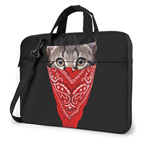 15.6 inch Laptop Shoulder Briefcase Messenger Gangster Cat Tablet Bussiness Carrying Handbag Case Sleeve