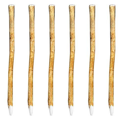 Nature by Kolibri 6 Stück Zaunpfahl Pfosten aus Haselnuss 120cm - ideal für Staketenzaun Holzzaun Kastanienzaun - für Ihr Zaunsystem