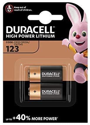 Duracell DL123A Ultra Lithium 123Batteria (Confezione da 2) colore: nero/rame