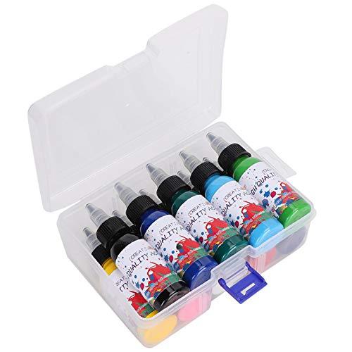 Pigmento de pintura acrílica, poseer conjunto de pigmento de pintura acrílica con caja de almacenamiento portátil para pintar