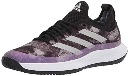 Adidas Women'S Defiant Generation Tennis Shoe, Black/Silver Metallic/White, 11