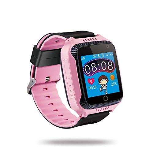 """Andoer Crianças Smart Watch Phone 1,44""""TFT Touch Screen Localizador GPS Tracker Câmera embutida Lanterna Smartwatch com slot para cartão SIM Monitoramento remoto de voz Chama SOS Alarme"""