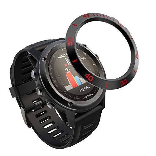 TOPsic Fenix 3 Bezel Styling Cover, Bisel Anillo Cubrir Anti-rasguños Colisión Acero Inoxidable Proteccion Anillo de Bisel para Fenix 3 HR/Fenix 3 Watch