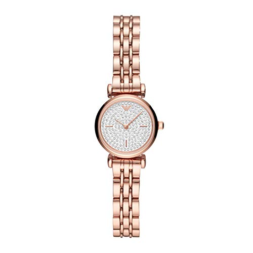 Emporio Armani Gianni T-Bar cuarzo esfera blanca reloj de señoras AR11266