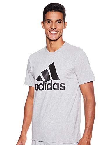adidas Mh Bos tee T-Shirt, Hombre, Medium Grey Heather/Black, L