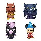Funko Pop! Set of 4 - Fantasia 80th Anniversary - Hyacinth Hippo, Menacing Chernabog, Baby Pegasus and Sorcerer Mickey