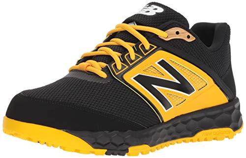 New Balance Men's 3000 V4 Turf Baseball Shoe, Black/Yellow, 9 M US