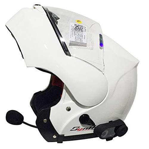 Vollgesichts-Motorradhelm, Street Bike Erwachsener Halbgroßer Stil Mattschwarzer Helm mit modularem Flip Up Dual Visier Sun Shield 21.3-24.8 Zoll,D,XXL