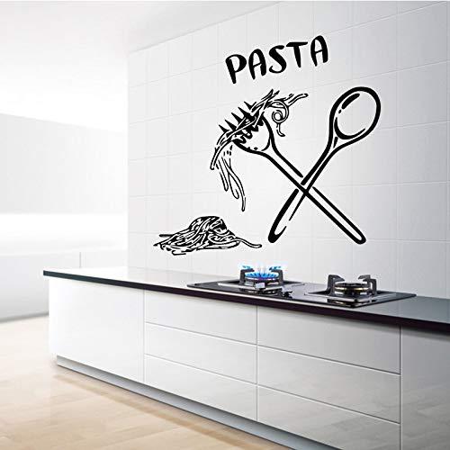 Pasta Pattern Home Decor Wandaufkleber für Kinderzimmer Wohnzimmer Selbstklebende PVC-Tapete Home Decoration Kaffee M 30 cm x 28 cm