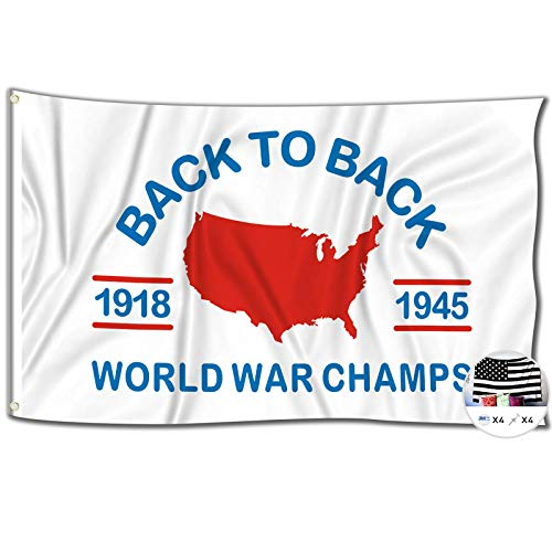 World War Champs Flag,3x5 Feet Back to Back Banner,Funny Poster UV Resistance Fading & Durable Man Cave Wall Flag with Brass Grommets for College Dorm Room Decor,Outdoor,Parties,Gift,Tailgates