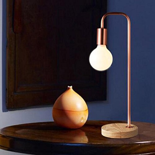 JAYLONG Moderne Simple Personnalité Lampadaire, Nordic Design Bureau Chambre Salon Vertical Fer Lampadaire (Couleur: Bronze/Noir), Table Lamp-Copper