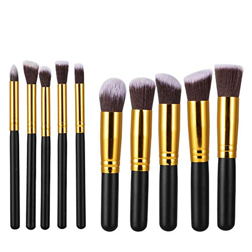 DQC 10 Pcs Makeup Brushes Set Eye Shadow Foundation Powder Eyeliner Eyelash Lip Brush Cosmetic Beauty Tool Kit,HC550
