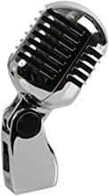 Pulse PLS00093 Retro Style Chrome Microphone - Silver/Chrome