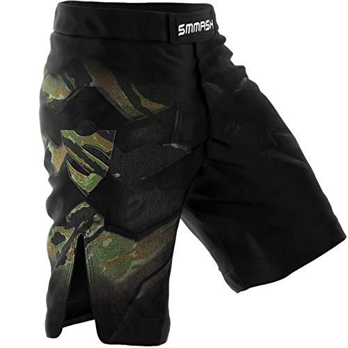SMMASH Tiger Armour Herren Sport Shorts für Boxen Kampfsport MMA, UFC, Training Sporthose Kurz für Männer, Crossfit Trainingshose Atmungsaktiv und Leicht, Hergestellt in der EU (L)