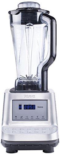 Nova 02.210400.01.001 - Batidora profesional saludable con función turbo, cuenta con un display de LED y 10 configuraciones, 1600 W, color plateado y negro