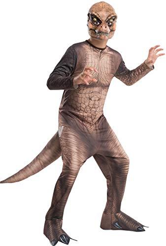 Jurassic World - Disfraz de dinosaurio T-Rex para niños, infantil talla 5-7 años (Rubie's 610814-M)