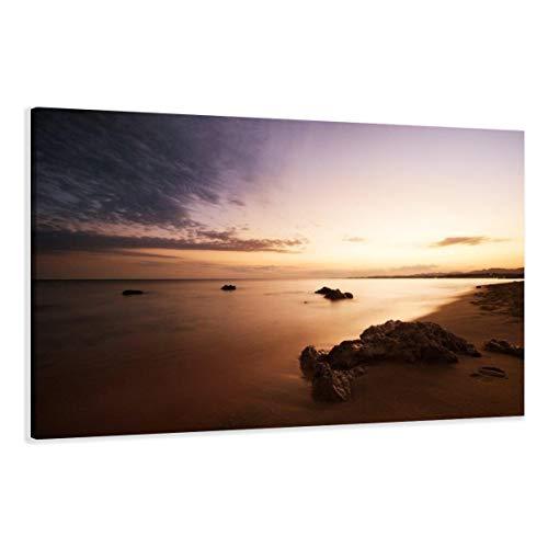 Visario Leinwandbilder 5023 Bild auf Leinwand Strand, 120 x 80 cm