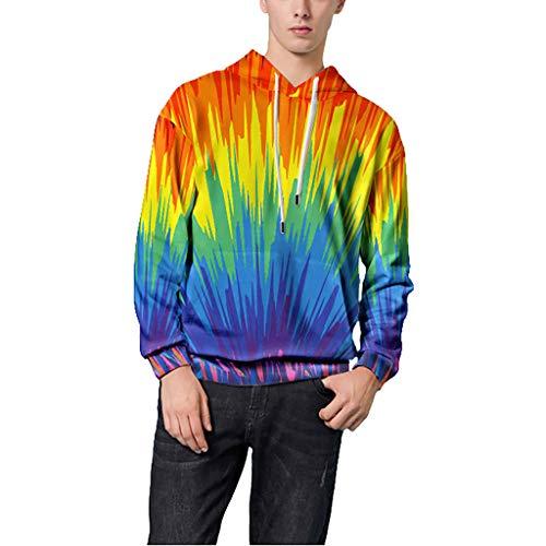 Alalaso Men's Hooded Sweatshirt,Mens 3D Print Pullover Sweaters Shirt Hoodies for Men Sweater Hooded