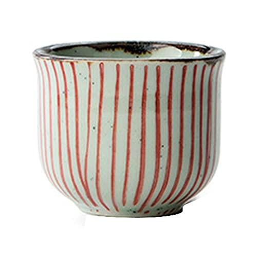 XXXD Juego personalizado de sake, combinación de color de línea roja con patrón de cadera frasco de vino de vidrio Shochu Pot Sake Cup Sake Dispenser Set Copa de vino