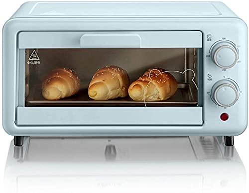 Horno de pizza doméstico multifuncional, horno de tostadora retro inteligente extraíble y lavable, mini parrilla de encimera, control de temperatura ajustable, azul