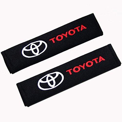 2pcs Protectores de hombro para cinturón almohadillas de cinturón de seguridad Toyota Logo