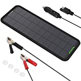 ALLPOWERS 12V 7.5W Portable Solar Car Boat Power Sunpower Solar Panel Battery Charger Maintainer for Automotive Motorcycle Tractor Boat RV Batteries