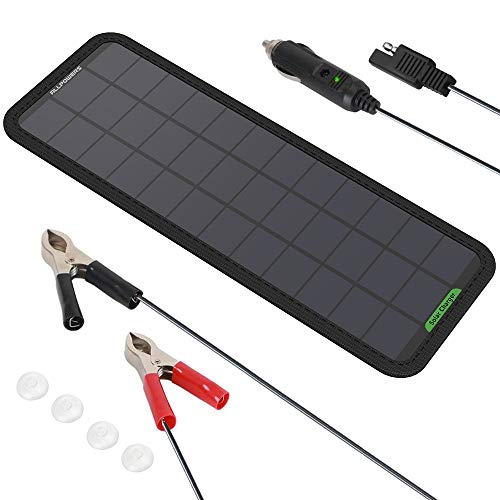ALLPOWERS 18V 7.5W Pannello Solare Portatile Sunpower Pannello Solare Battery Charger per Batteria dell'Auto, Include Spina di Accendisigari, Ventose e Batteria Mautenzione per Auto Moto