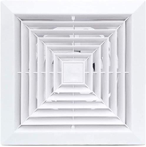Ventilador Axial Ventilation Extractor Montado en el techo Ventilador del extractor de los hogares Ventiladores de ventilación de bajo ruido Ventilador de ventilador, 8 pulgadas para el baño de aseo d
