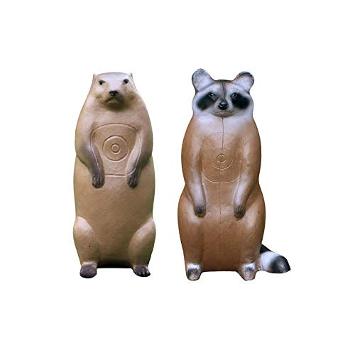 BIGSHOT Pro Hunter Racoon and Groundhog Combo Critter 3D Archery Target for Compound, Traditional Bows, Youth Archery