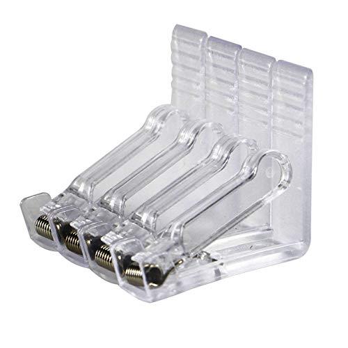 aufodara Plastik Tischdeckenklammern Tischtuschhalter für draußen Garten Picknicks Hochzeiten Partys Buffets Restaurant (4, Transparent)