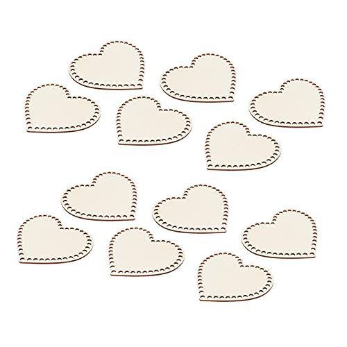 Sharplace 12 Piezas en Forma de corazón de Madera para Tejer Bolsa de Bricolaje Base de cojín con Agujeros Bolso de Ganchillo Paquete de Hombro Almohadilla de - 15cm