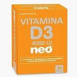 NEO - Vitamina D 30 cápsulas de 300 gr   Complemento Alimenticio de Liberación Rápida   Libre de Alérgenos GMO y Nanomateriales   Tomar 1-2 cápsulas al día