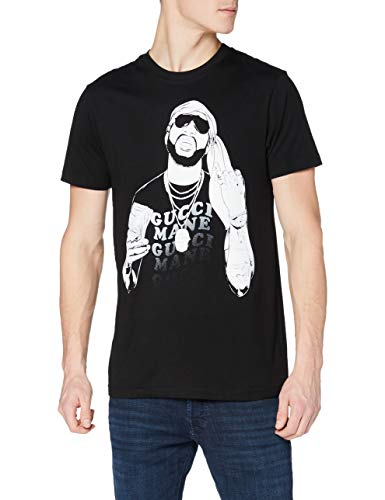 MERCHCODE Merch Código Hombre Gucci goldmane Money tee – Camiseta, Hombre, Gucci Mane Money tee, Negro, Medium