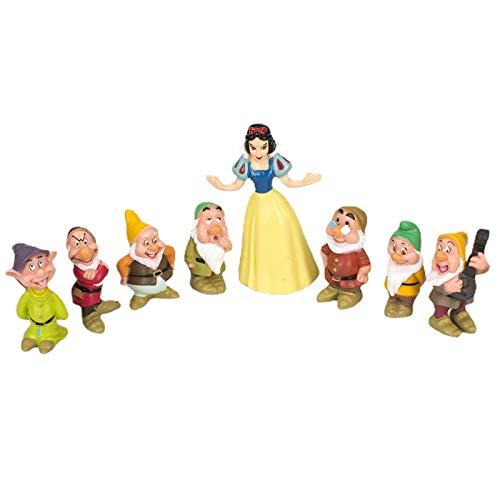 CYSJ Princesa Cake Topper 8Pcs Princesa de Dibujos Animados Decoración de Tartas Figuras Decoración para Tarta de cumpleaños de Figuras de Dibujos Animados del Fiesta Suministros