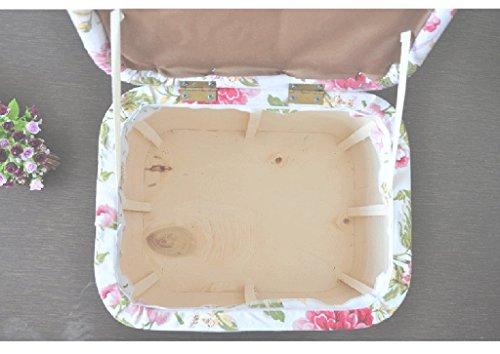 Boîte de rangement en bambou/boîte de rangement d'habillement/boîte de stockage de jouet des enfants/tabouret de stockage, incidence de charge de 100kg (Couleur : B)