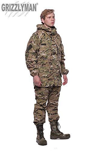 GRIZZLYMAN Gorka-5 Russische Uniform-Anzug für Jagd, Angeln, Camping, Bushcraft | winddichtes/wasserabweisendes Ripstop-Gewebe | UK Lager, Größe 2XL (Brustumfang 120–124 cm)