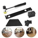 Laminat-/Holzfußboden-Installations-Werkzeug-Set mit Abziehstange, Gewindebohrblock, Gummihammer, 20 Abstandhalter, Laminatboden Reparatur-Set