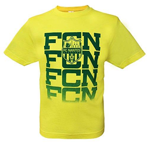 FC NANTES T-Shirt Collection Officielle Football Club Nantes Atlantique FCNA - Ligue 1 - Taille Enfant garçon 10 Ans