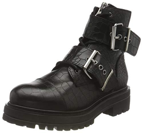Buffalo Damen MIMI Mode-Stiefel, CROCO BLACK, 37 EU