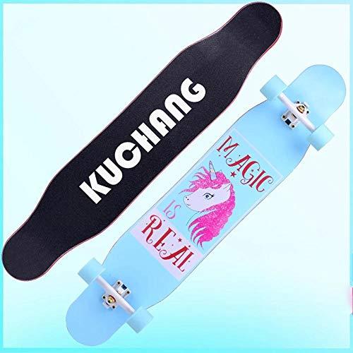 YSCYLY Skateboard,Longboard Professionelles Road Dance Board,Geburtstagsgeschenk FüR Teenager Und Erwachsene