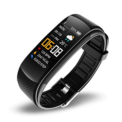 Reloj inteligente deportivo con Bluetooth para mujeres, medición de la temperatura corporal, pulsera inteligente para hombres, Android iOS y fitness, reloj de pulsera con corazón