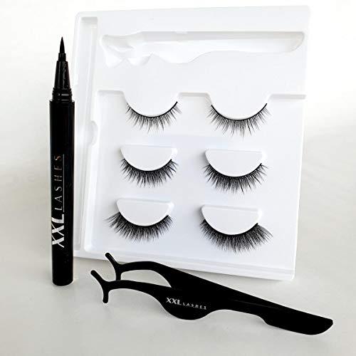 Kit Stylo Eyeliner Magique et Adhésif, combine les deux : eyeliner et colle à cils en un seul produit - eyeliner collant, stylo eyeliner adhésif (Guotidien)