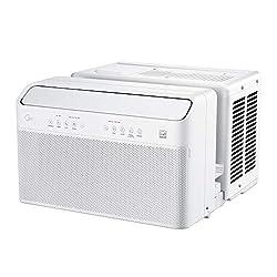 Midea U Inverter Window Air Conditioner 10,000BTU, U-Shaped AC with Open Window Flexibility, Robust Installation,Extreme Quiet, 35% Energy Saving, Smart Control, Alexa, Remote, Bracket Included