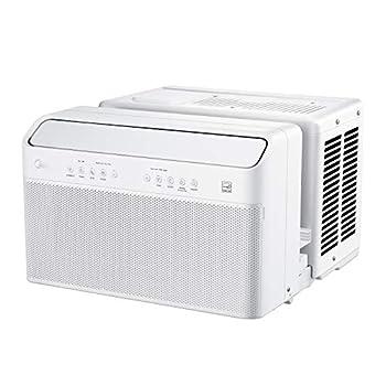 Midea U Inverter Window Air Conditioner 10,000BTU U-Shaped AC with Open Window Flexibility Robust Installation,Extreme Quiet 35% Energy Saving Smart Control Alexa Remote Bracket Included
