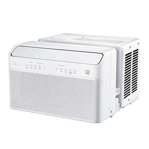 Midea U Inverter Window Air Conditioner 10,000BTU, U-Shaped AC with Open Window Flexibility, Robust Installation,Extreme Quiet, 35% Energy Saving, Smart Control, Alexa, Remote, Bracket Included